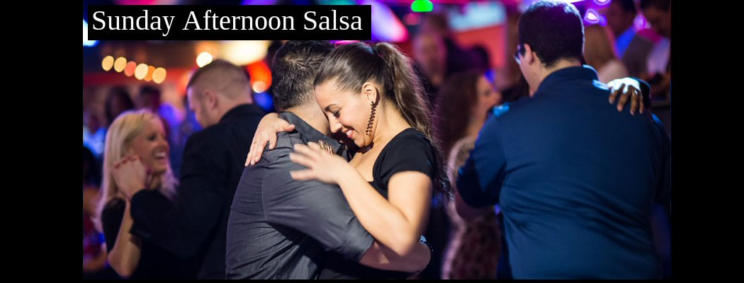 <blockquote>SUNDAY, JULY 8 & 22nd. Introductory (beginners) Salsa Lesson @ 3:30 PM. Salsa, Bachata, Hustle, Cha Cha dancing till 6:15 PM.</blockquote>